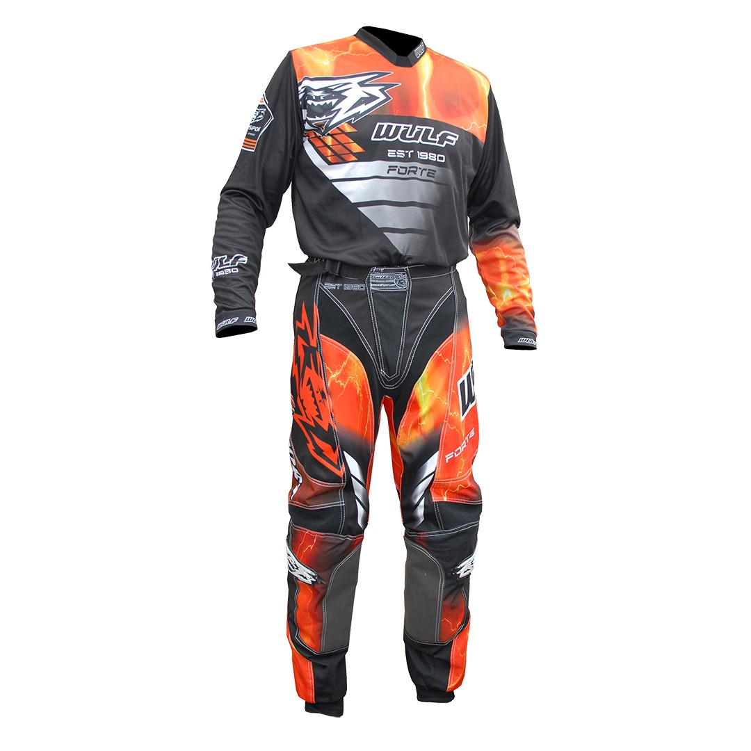 TENUE WULFSPORT FORTE CROSS QUAD ORANGE taille 30 à 46 S à XXXL