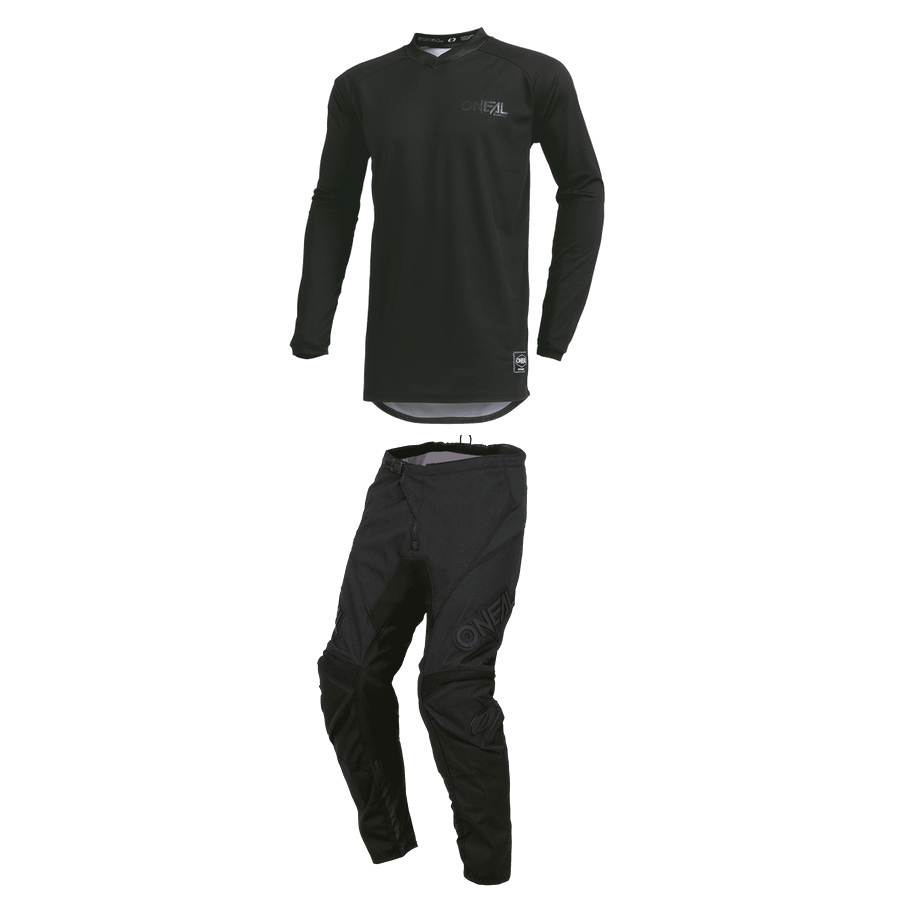Tenue ADULTE ONEAL ELEMENT CLASSIC BLACK NOIR CROSS BMX T28 à 42