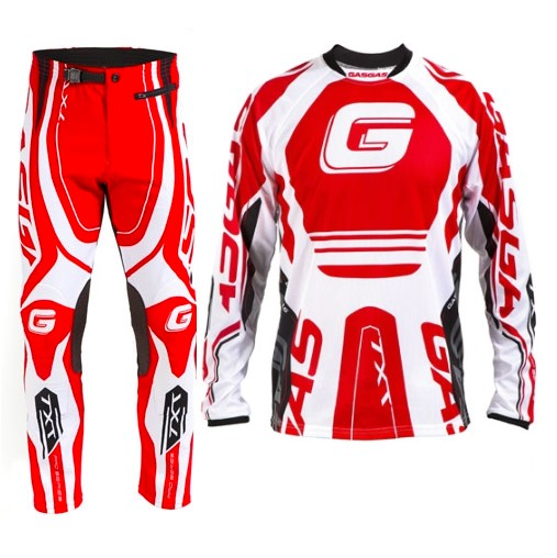 TENUE PANTALON MAILLOT TRIAL GASGAS TXT OFFICIEL S M XL XXL