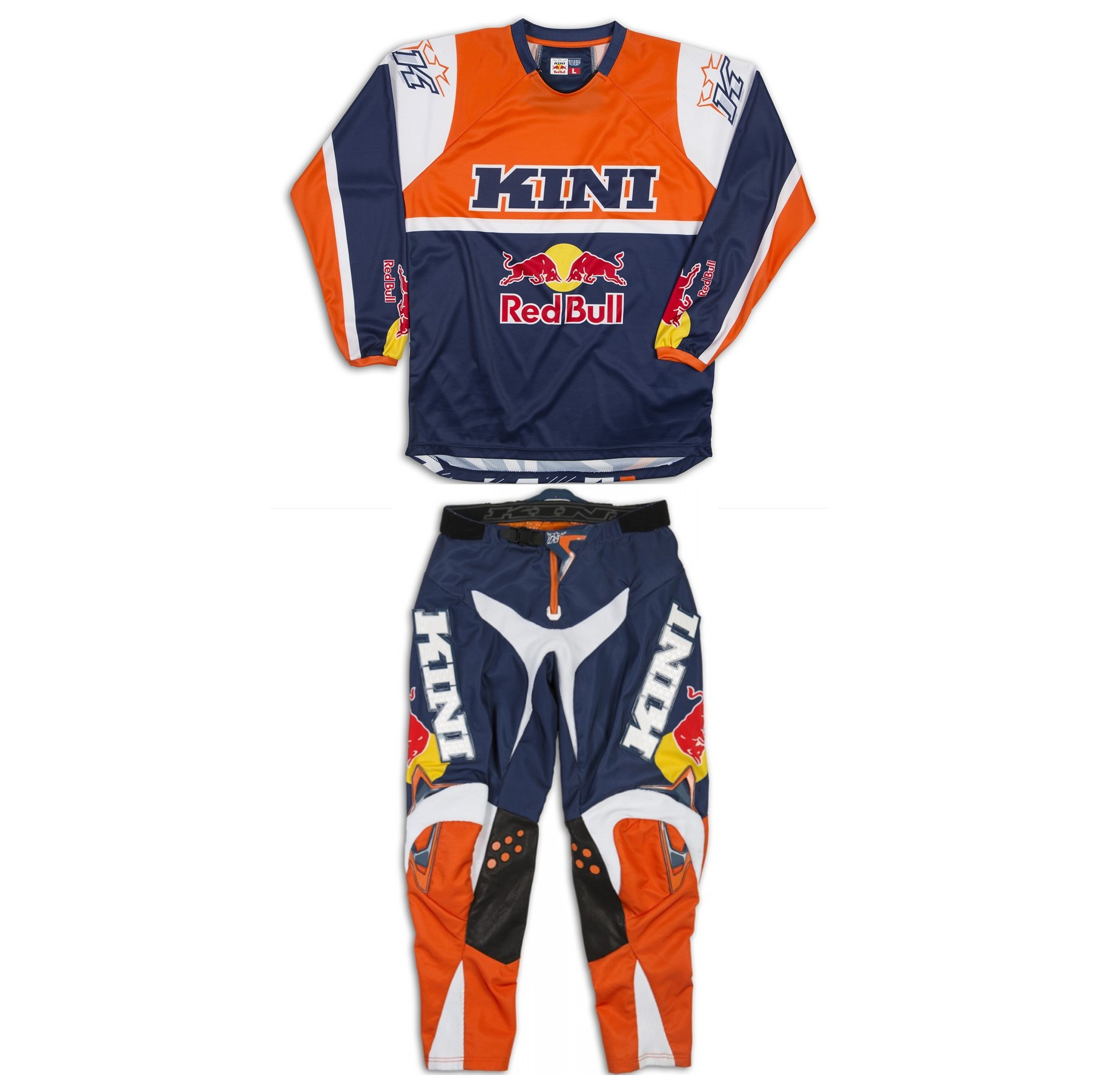 TENUE PANTALON MAILLOT KINI REDBULL REVOLUTION ORANGE T34 XL