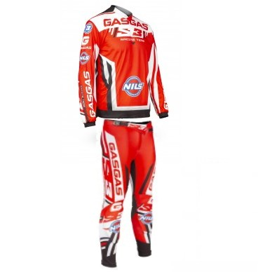 TENUE TRIAL PANTALON MAILLOT S3 RACING TEAM GASGAS ROUGE S à XXL