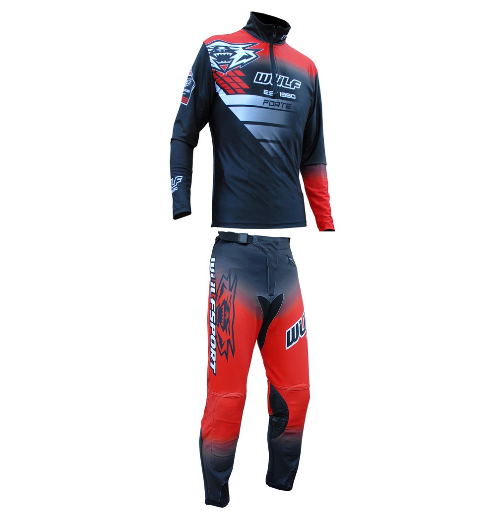 TENUE TRIAL WULFSPORT ADULTE PANTALON SWEET FORTE ROUGE