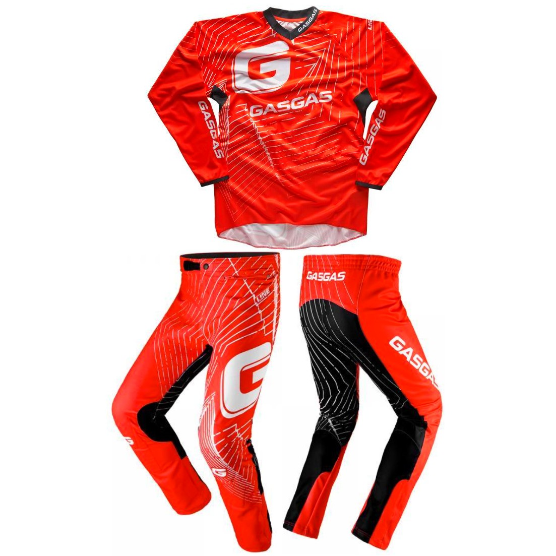 ENSEMBLE TENUE TRIAL  PANTALON MAILLOT JITSIE GASGAS ROUGE