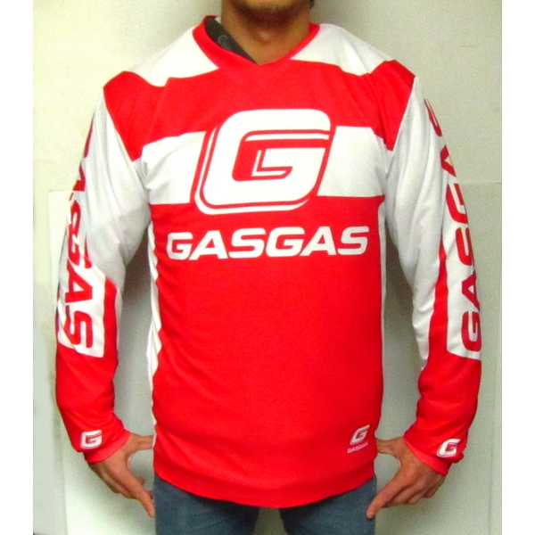 MAILLOT TRIAL / ENDURO GASGAS OFFICIEL ROUGE BLANC