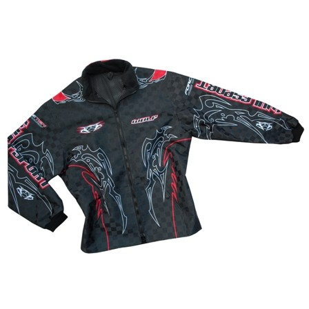 WULF : VESTE NOIR ROUGE trial enduro cross taille M