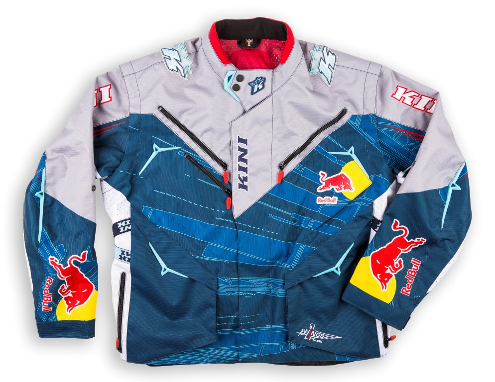 VESTE ENDURO RALLY CROSS KINI REDBULL COMPET. BLEUE L