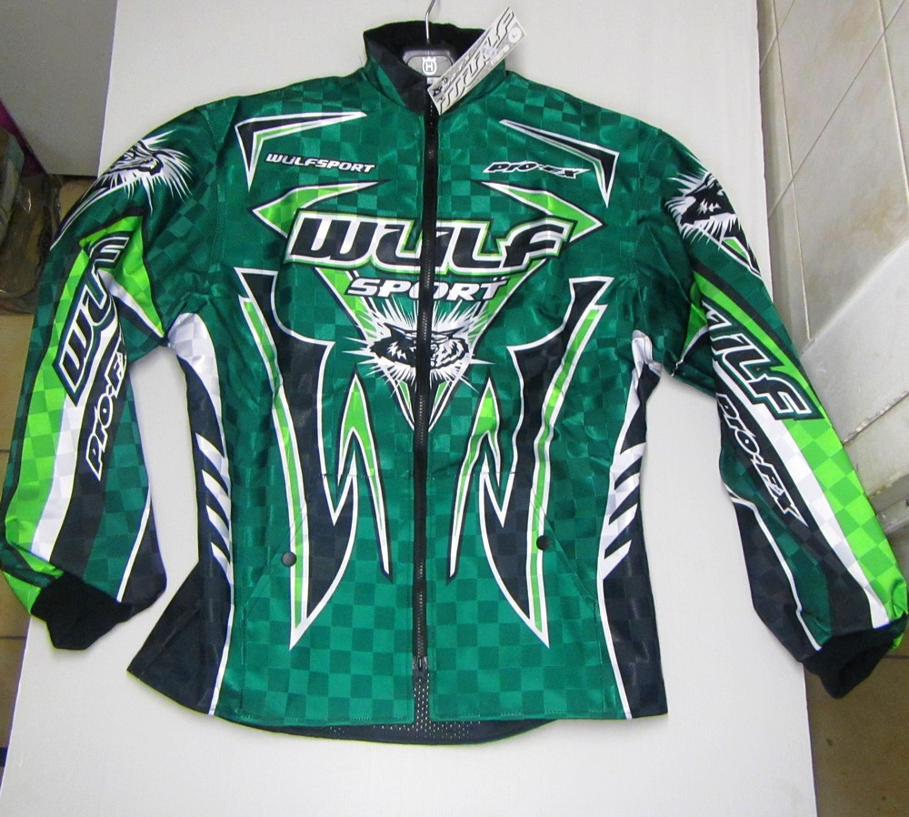 WULF : VESTE VERTE trial enduro cross DESTOCKAGE M L