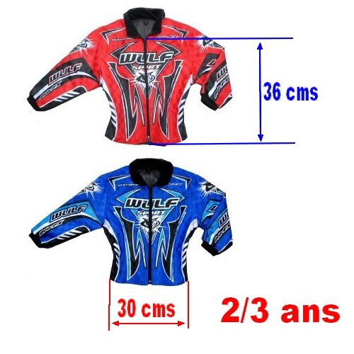 exclusif veste enfant baby cross enduro trial bmx rouge bleu 2 3. Black Bedroom Furniture Sets. Home Design Ideas