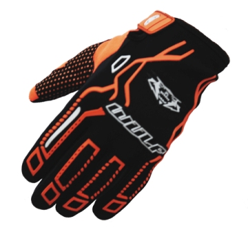 WULF : Gants cross bmx orange enfant et adulte