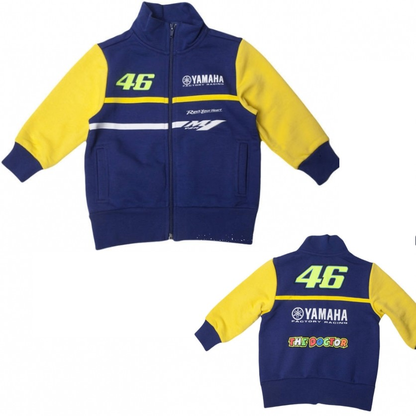 SWEAT VESTE ENFANT VR46 YAMAHA RACING M1 11/12 ans