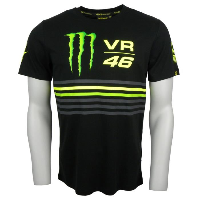 TEE SHIRT VR46 MONSTER ENERGY TRIPE S à XL